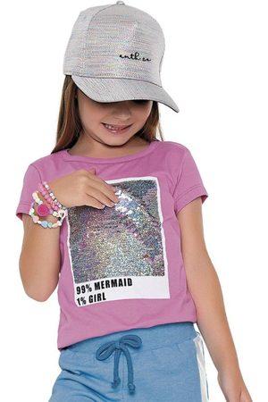 Fakini Kids Menina Camiseta - Blusa Lantejoula