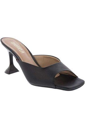 Gabriela Mulher Sapato Mule - Tamanco Salto Taça Pespontos