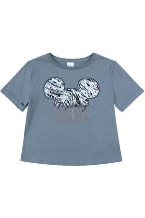 Disney T-Shirt em Meia Malha com Estampa