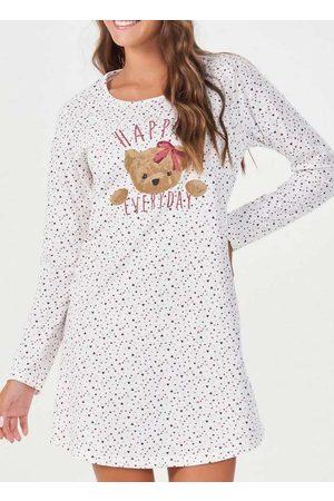 Espaço Pijama Camisola Feminina Longa 40865 Off-Wh
