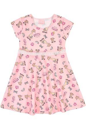 Quimby Menina Vestido Estampado - Vestido Infantil Estampado