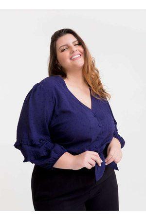 Tal Qual Mulher Blusa - Blusa Cropped Almaria Plus Size Amarração
