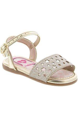 MOLEKINHA Sandália com Glitter Verniz Ouro