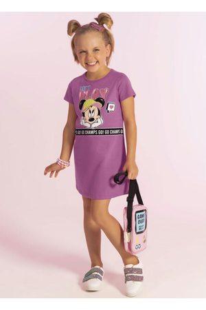 Disney Menina Vestido Estampado - Vestido Curto Estampado