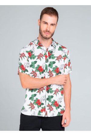 Rovitex Homem Camisa Manga Curta - Camisa Masculina Florida