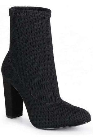 LARA Ankle Boots Feminina Knit Básica