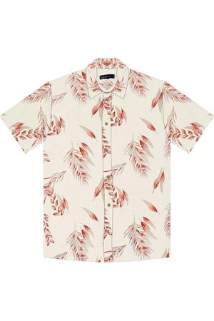 Rovitex Homem Camisa Manga Curta - Camisa Masculina Estampa Tropical