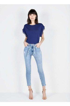 Dimy Mulher Calça Skinny - Calça Olivia Super Skinny Unico Multicores