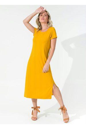 Rovitex Vestido Feminino Midi Básico