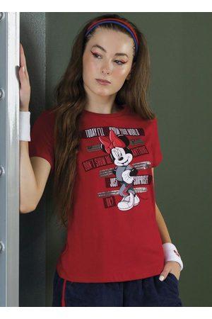 Disney T-Shirt em Meia Malha com Bordado