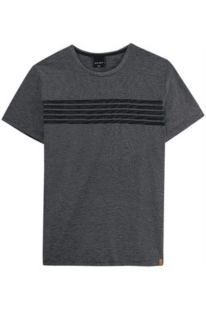 Malwee Camiseta Preta Listrada Fio a Fio