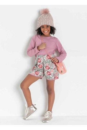 Kolormagic Macaquinho Infantil Floral Manga Longa