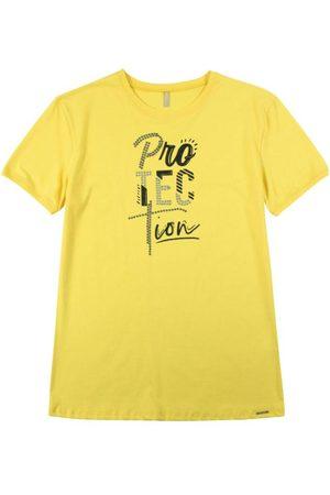 Cativa T-Shirt Estampada com Bordado