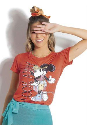 Disney Blusa em Viscose e Aplicação