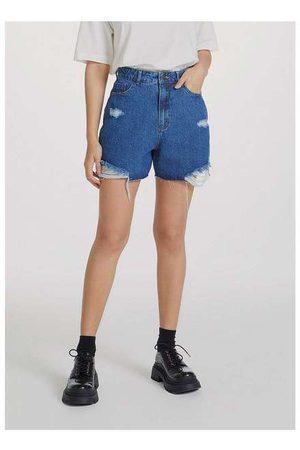 Hering Shorts Jeans Feminino Cintura Alta