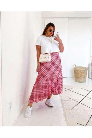 Tal Qual Mulher Blusa - Blusa Cropped Almaria Plus Size Gola Redo