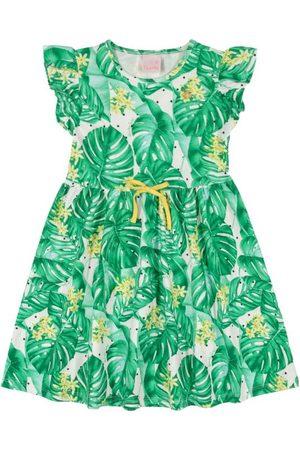 Quimby Vestido Infantil Tropical