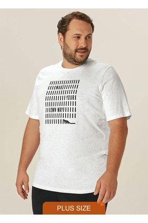 Malwee Plus Homem Camisolas de Manga Curta - Camiseta Branca Tradicional Own Way