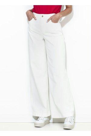 Colcci Calça Sarja Pantalona Off White