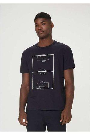 Hering Camiseta Masculina Regular com Estampa Pret