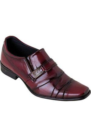 Perfecta Homem Calçado Social - Sapato Bordô em Verniz com Adereço