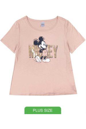 Disney Blusa Plus Size em Viscose Estampada