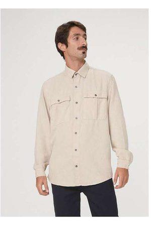 Hering Camisa Manga Longa Masculina em Sarja de Algodão C