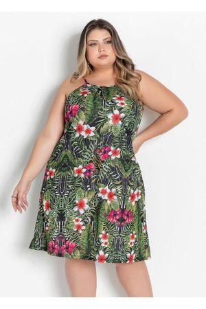 Marguerite Vestido Curto Floral com Alças Plus Size
