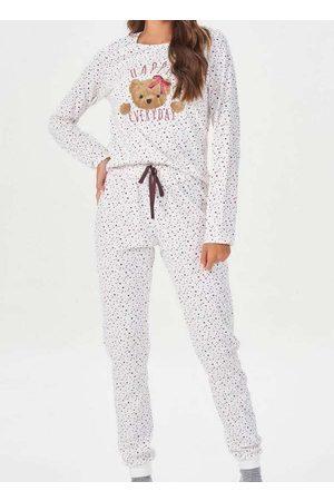 Espaço Pijama Pijama Feminino Longo 40864 Off-Whit