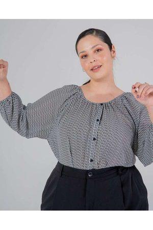 Miss Taylor Blusa Almaria Plus Size Estampada Bran