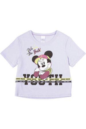 Disney Blusa Estampada com Aviamento Lilás