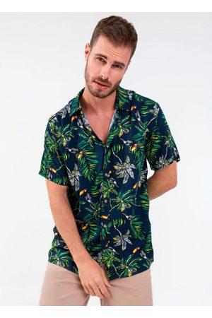 Rovitex Camisa Masculina Estampada Tropical