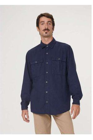 Hering Camisa Manga Longa Masculina em Sarja de Algodão A