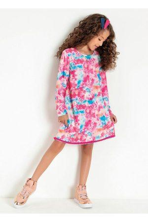Kolormagic Menina Vestido Longo - Vestido Infantil Manga Longa Tie Dye Color