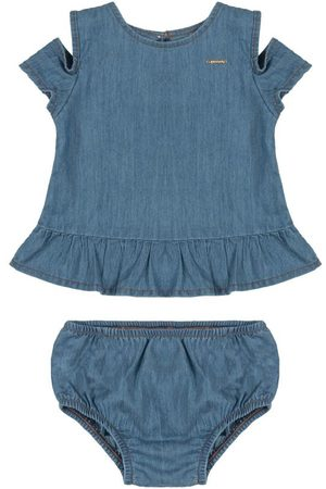 Up Baby Conjunto Bebê Bata e Calcinha Jeans