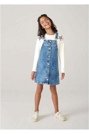 Hering Salopete Jeans Infantil Menina Marmorizada