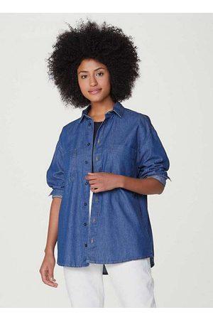 Hering Camisa Jeans Feminina Oversized
