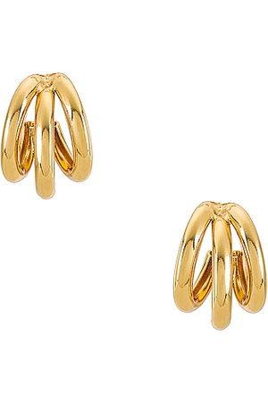 Natalie B Jewelry Tre Hoop in Metallic .