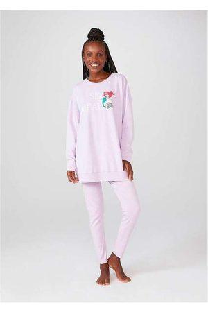 Hering Mulher Pijamas - Pijama Feminino Manga Longa Princesas Disney Mini