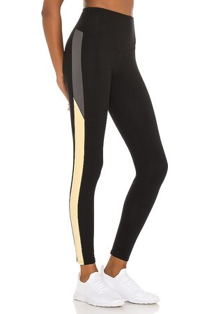 Yummie by Heather Thomson Rachel Legging With Two Color Racing Stripe in Black. - size L (also in M, S, XS)