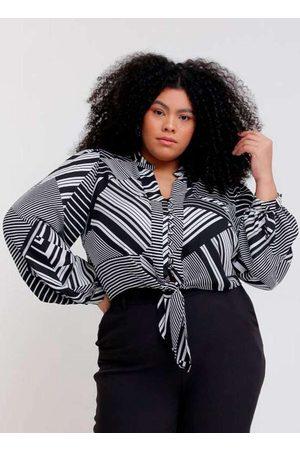 Pianeta Camisa Cropped Almaria Plus Size Estampada