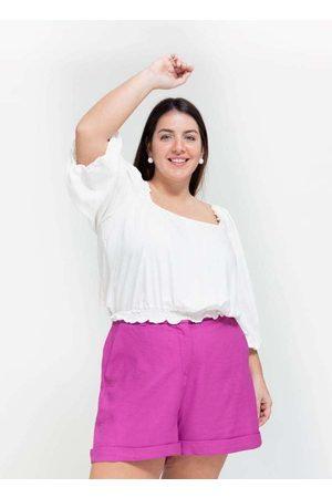 Tal Qual Mulher Blusa - Blusa Cropped Almaria Plus Size Decote Qu