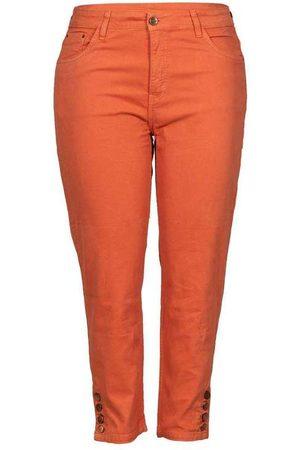 Fact Jeans Calça Cropped Almaria Plus Size Fact Sarja