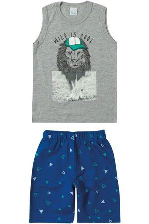 MALWEE KIDS Conjunto Escuro Leão em Moletom Menino