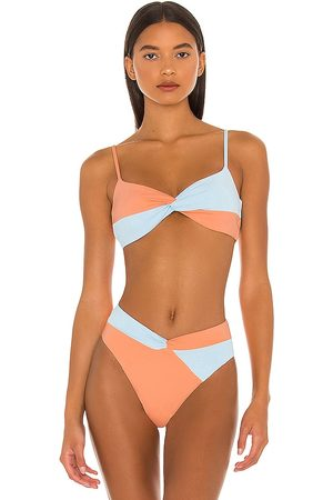 L*Space Ringo Bikini Top in Peach. - size L (also in XS, S, M)