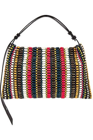 SIMON MILLER Beaded Puffin Bag in Pink.