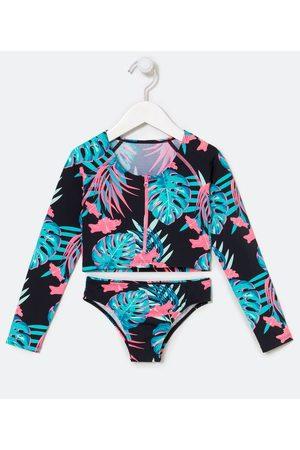 Cubus Criança Bikini - Biquíni Cropped Infantil Estampa de Folhagens - Tam 5 a 14 anos     Multicores   9-10