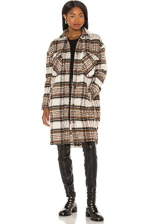 BLANK NYC Mulher Jaquetas - Long Plaid Shacket in Brown. - size L (also in S, XS, M)