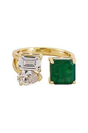 The M Jewelers Mulher Anéis - Avery Stone Ring in Green. - size 6 (also in 7, 8)