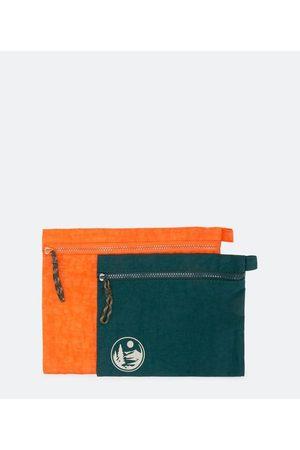 Cubus Kit 2 Nécessaires Envelope com Estampa Outdoor     Multicores   U